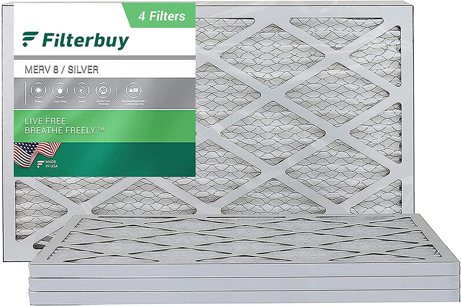 FilterBuy 12x27x1 Air New products world's highest quality popular Filter MERV 8 Pleated AC HVAC Furnace Now free shipping Fil