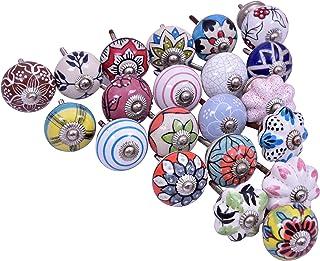 diollo Assorted Ceramic Cabinet Knobs Drawer Kitchen Cabinets Dresser Cupboard Wardrobe Pulls Handles