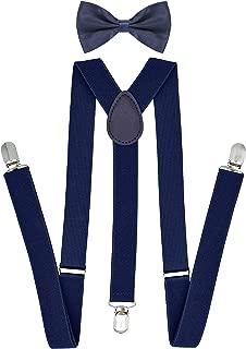 Suspenders Bowtie Set X-back Suspender For Men with Bow Tie Elastic 1