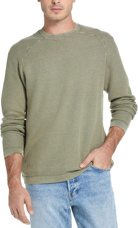 Weatherproof Men's Sweater Crew Textured Pullover Green 2XL