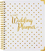[New] Wedding Planner Gold - Undated Bridal Planning Diary Organizer - Hard Cover, Pockets & Online Support