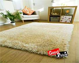 GOOD PRICE Polyester Carpets for Home(20x32-inch, Ivory)
