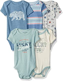 Lucky Sets Baby Boys 5 Pack Bodysuit