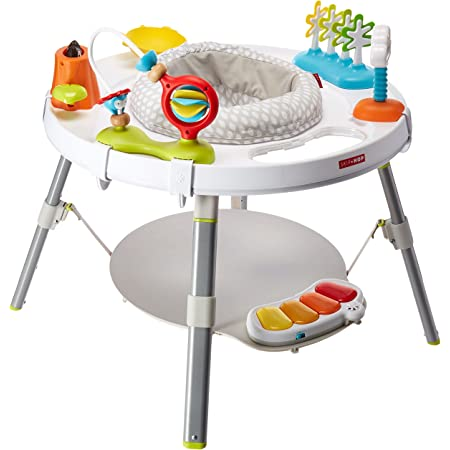Skip Hop 3-Stage Interactive Baby Activity Center – Durable baby walker with interactive and attachable toys