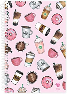 """bloom daily planners 2019 Calendar Year Day Planner - Passion/Goal Organizer - Monthly and Weekly Dated Agenda Book - (January 2019 - December 2019) - 6"""" x 8.25"""" - Coffee Lover"""
