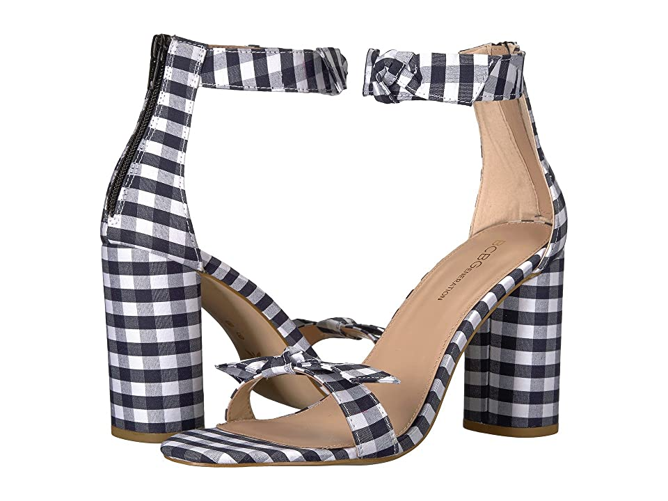 BCBGeneration Faedra (Dark Blue/White Gingham Fabric) Women