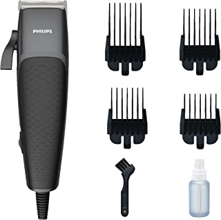Philips Hair Clippers for Men, Series 3000 Hair Clipper and Beard Trimmer with Length Adjustable Blades, Grades 0-4, Corde...