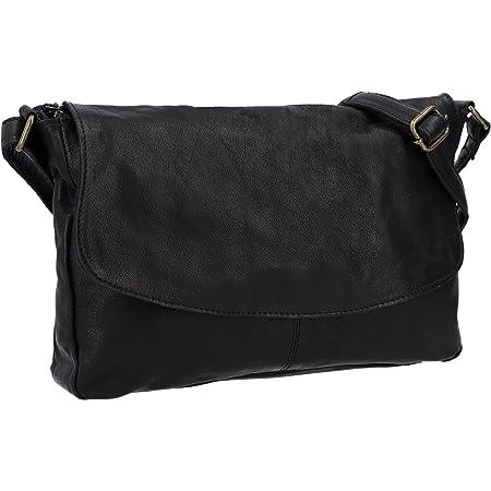 Gusti Umhängetasche Damen Leder- Maisie Handtasche Schultertasche Ledertasche klein Schwarz
