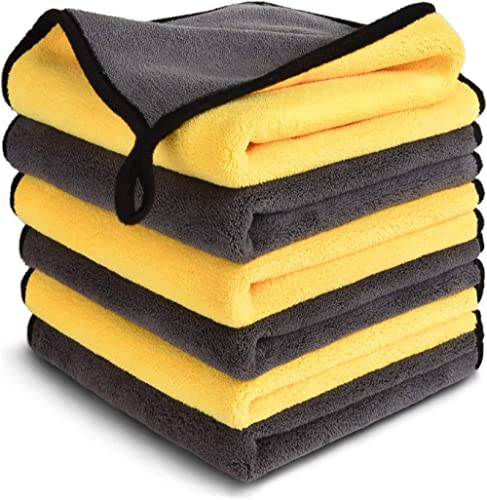 PrimAlite Microfiber Cleaning Cloth 800 GSM for Car & Motorbike- Pack of 6 (30 x 30 cm) for Home & Kitchen, Mobile, L...
