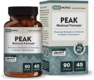 Peak Workout Formula by DailyNutra - Improved Motivation and Exercise Output | Pre-Workout and Recovery Supplement Featuri...