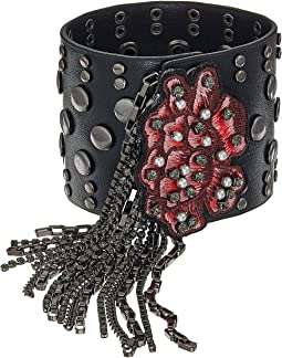 Steve Madden - Casted Floral Tassel Bangle