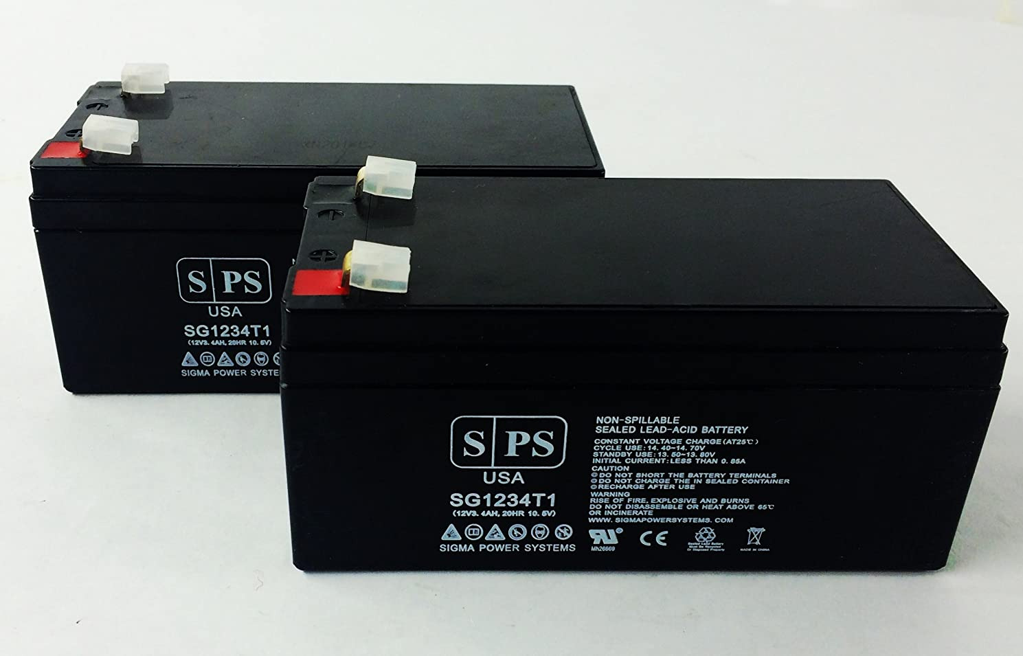 Replacement Battery for Care Monitoring Systems Inc. TELESTAT - SPS Brand (2 pack)