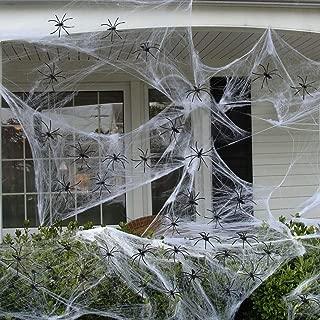 Dazonge Fake Spider Web (32 Extra Spiders) for DIY HalloweenDecorations Indoor/Outdoor