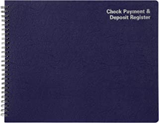"""Adams Check Payment and Deposit Register, 8-1/2"""" x 11"""", 44 Pages (AFR60), White"""