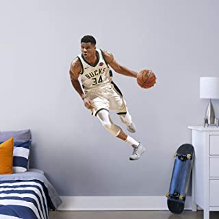 FATHEAD NBA Milwaukee Bucks Giannis Antetokounmpo Officially Licensed Removable Wall Decal, Multicolor, Giant - 1900-0031...