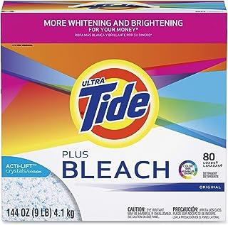 Laundry Detergent with Bleach, Tide Original Scent, Powder, 144 oz Box, 2/Carton