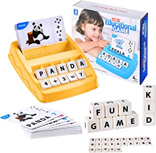 2 in 1 Matching Letter Game Learning Toys for Kids, Teaches Word Recognition, Spelling, and Increases Memory, 3 Years and ...