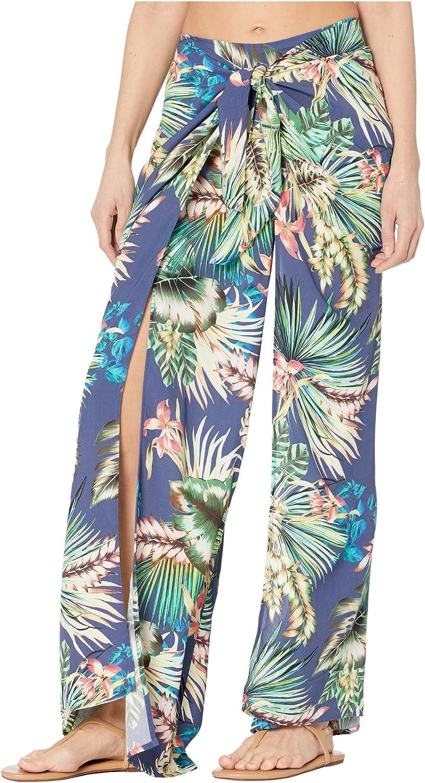 La Blanca Women's Tie Front Side Slit Pant Swim Cover-up