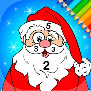 Santa Coloring Pages With Number