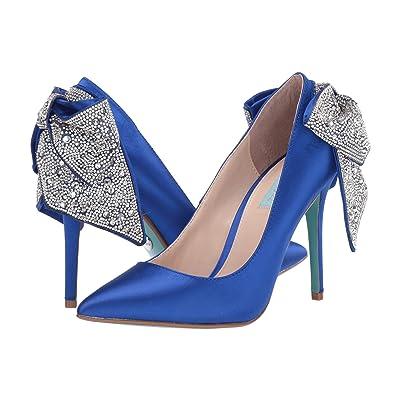 Blue by Betsey Johnson Bryn Pump (Blue Satin) Women