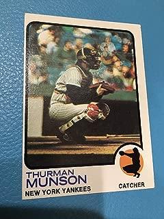 Topps Authentic 1973 142 Thurman Munson New York Yankees EX