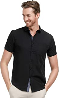 Men's Casual Dress Shirts Button Down Short Sleeve Business Shirt