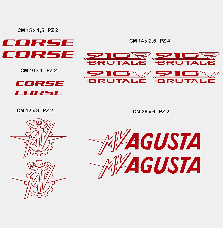 Aufkleber Stickers Mv Agusta Mvagusta 910r Brutale Motorrad Cod 0584 Arancione Cod 035 Sport Freizeit