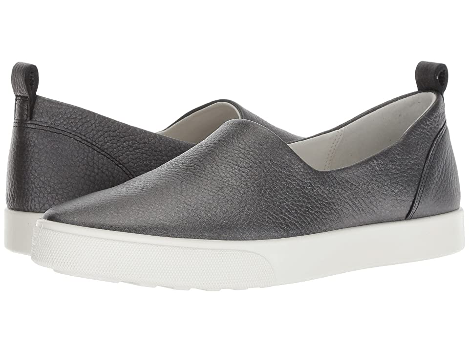 ECCO Gillian Slip-On (Black/Dark Silver Java Nubuck) Women