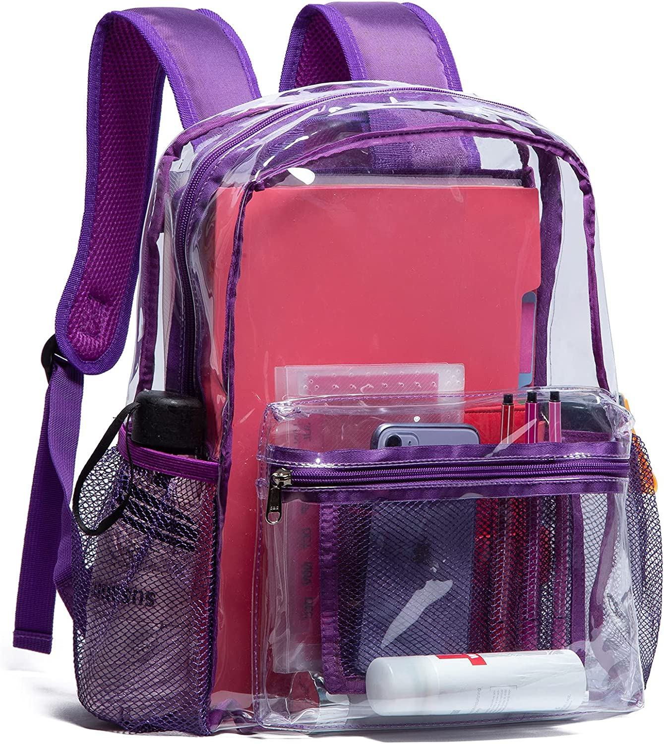 Vorspack Clear Backpack Heavy with Fashion Max 80% OFF Duty Transparent PVC