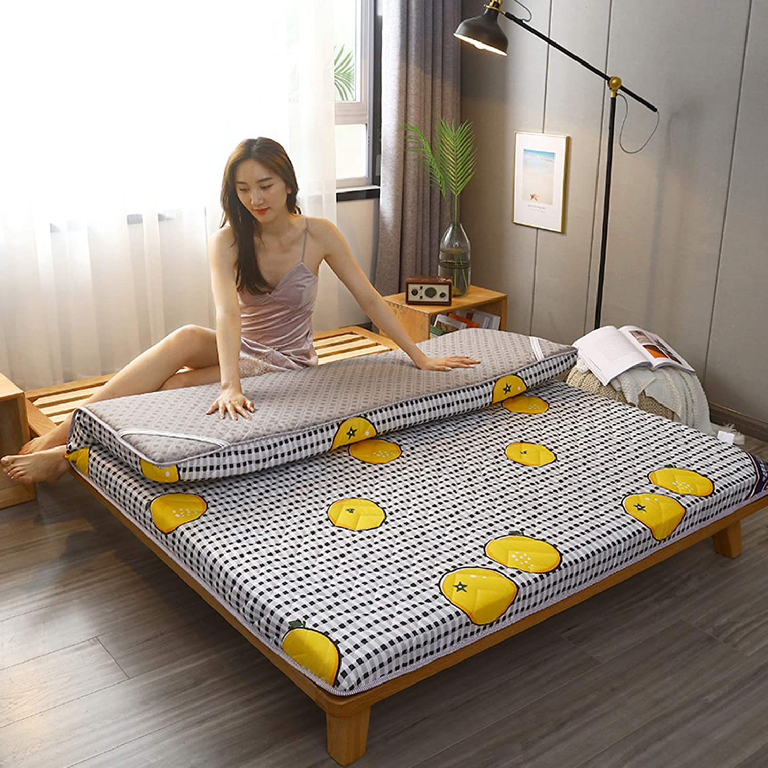 LXSHMF Japanese Floor Futon Mattress,Thick Tatami Floor Mat Sleeping Pad Folding Dormitory Mattress Kids Floor Lounger Bed Couches and Sofas