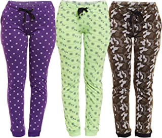 VIMAL JONNEY Multicolor Cotton Trackpants for Women(Pack of 3) (F4_PRT5_PU_PRT6_GR_ARM_OLV_03-P)