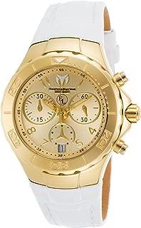 Technomarine Women's Eva Longoria Quartz Watch with Leather Calfskin Strap, White, 22 (Model: TM-416034)