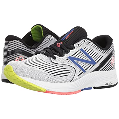 New Balance 890v6 (White Munsell/Black/Blue Iris/Vivid Coral) Women