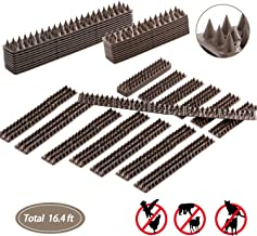 Juguhoovi Defender Birds Spikes, Bird Repellent Anti-Climb Security Spikes to Prevent Birds, Cat and Small Animals from Entering Your Yard Security for Fence, Railing, Walls and Roof (Brown)