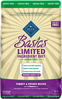 Blue Buffalo Basics Limited Ingredient Diet Grain Free, Natural Indoor Adult Dry Cat Food