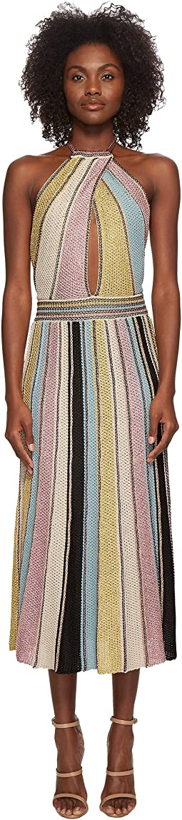 M Missoni - Vertical Stripe Crochet Dress