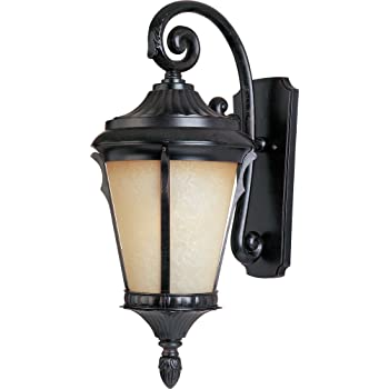 Maxim 3014LTES Odessa Cast 1-Light Outdoor Wall Lantern, Espresso Finish, Latte Glass, MB Incandescent Incandescent Bulb , 50W Max., Dry Safety Rating, 2900K Color Temp, Standard Dimmable, Glass Shade Material, 6500 Rated Lumens