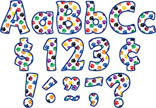 Teacher Created Resources Colorful Paw Prints Funtastic Font 4-Inch Letters Combo Pack (5348)