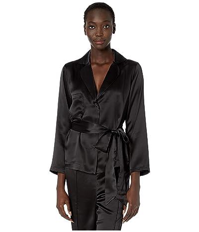 Thistle & Spire Silk Lounge Top (Black) Women