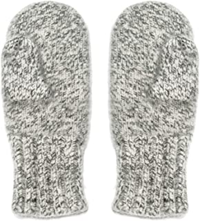 4 Ply Extreme Warm 100% Austrian Boiled Wool Alpine Mittens in Natural Grey