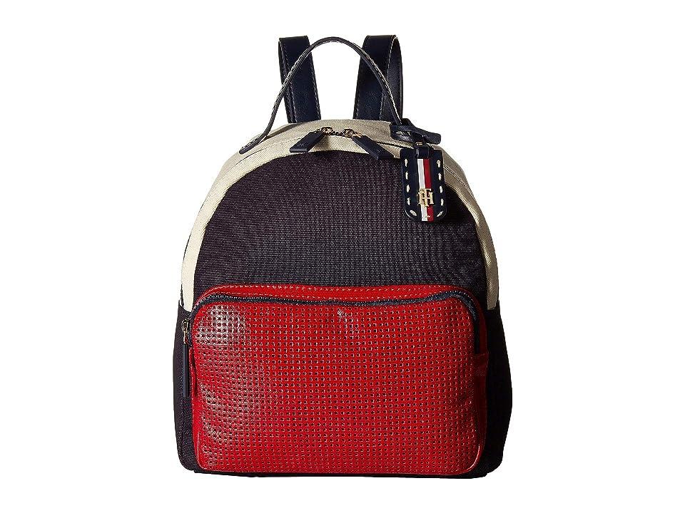 Tommy Hilfiger Julia Novelty Backpack (Navy/Red) Backpack Bags