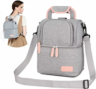 ThreeH Breastmilk Cooler Bag Breast Pump Bag Double Layers Adjustable Shoulder Tote Backpack for Mother Outdoor Working Pi...