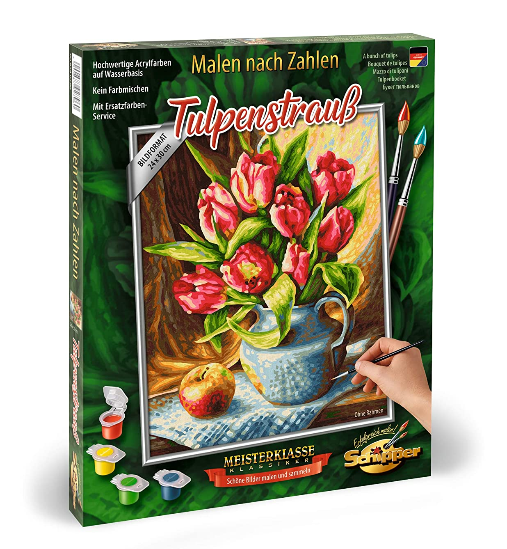 Noris Schipper 609240796 Painting by Numbers 24 x 30 cm Tulip Bouquet