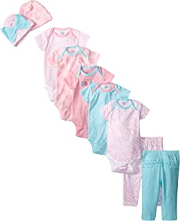 Baby Girls' 9 Piece Playwear Bundle