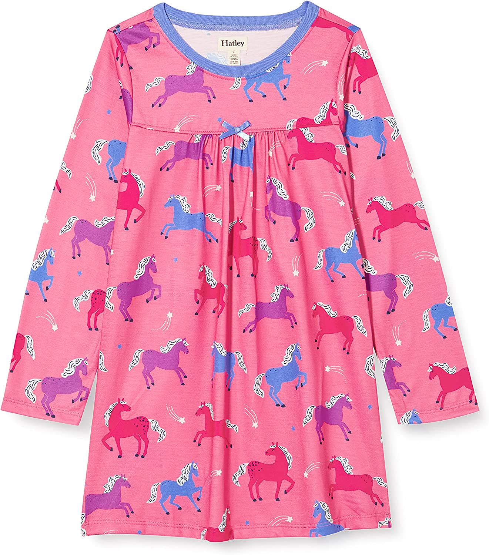 Hatley Girl's Dreamy Horses Long Sleeve Nightdress (Toddler/Little Kids/Big Kids)