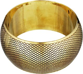polinter Gold /& Silver Tone Brass beaded Kada Set of 2