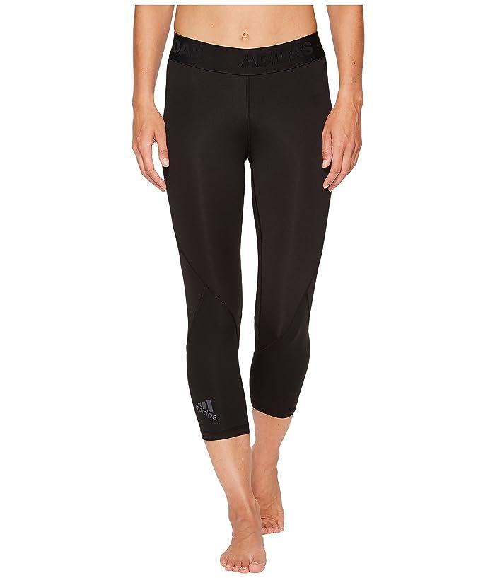 adidas Alphaskin Sport 3/4 Tights (Black) Women