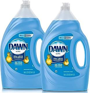 Dawn Ultra Dishwashing Liquid Dish Soap, Original Scent, 2 count, 56 oz.(Packaging May Vary)