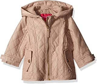 London Fog Baby Girls' Infant Midweight Multi Quilted Barn Jacket