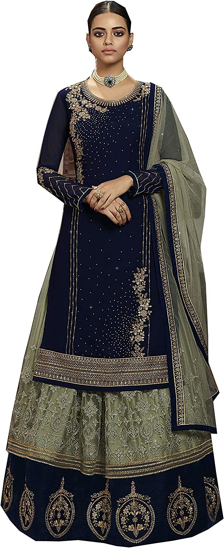 Delisa Indian/Pakistani Ghaghra Style Ready to Wear Salwar Suit Dress for Women LT3601